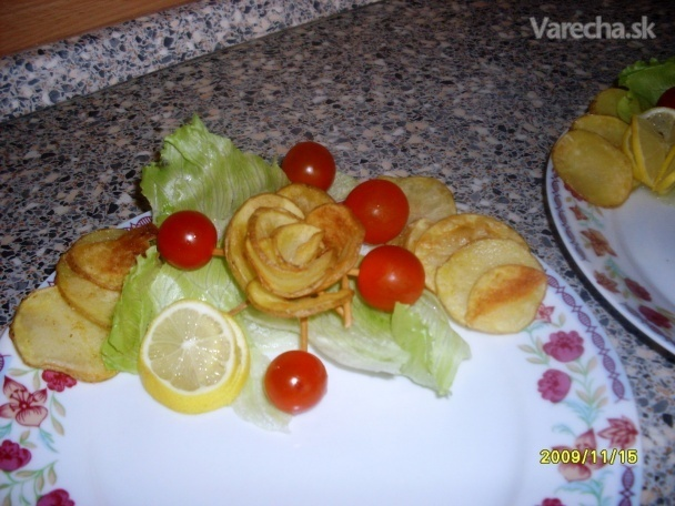Opekané zemiakové ruže (fotorecept)