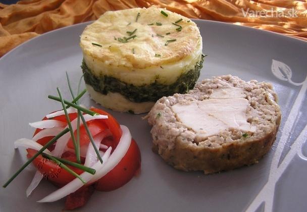 Mäsová roláda a špenátové zemiaky z parného hrnca (fotorecept)