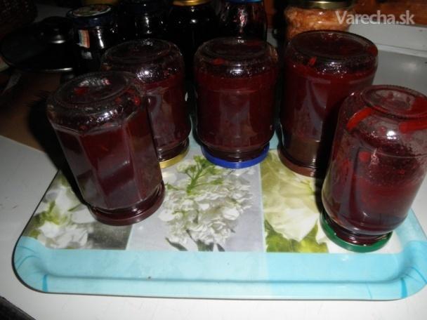 Jablkovo-černicový džem (fotorecept)