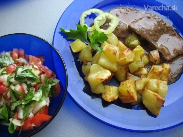 Viedenská roštenka s opekanými zemiakmi (fotorecept)