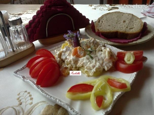 Prekladaný zemiakový šalát podľa Svetlanky (fotorecept)