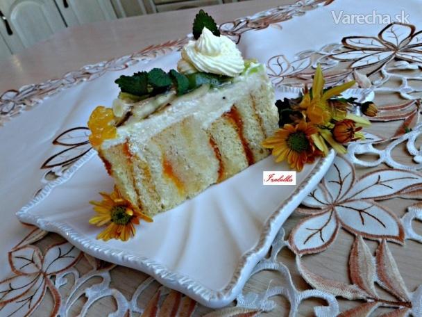 Ovocná roládová torta s tvarohovo-mascarpone krémom (fotorecept)