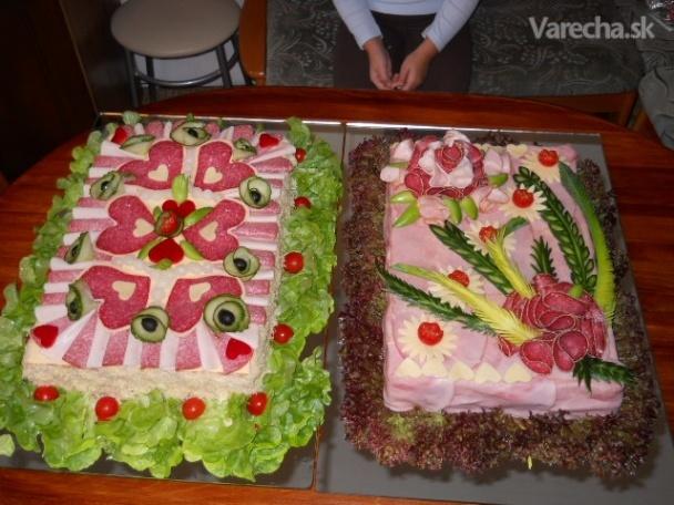 Slaná svadobná torta (fotorecept)
