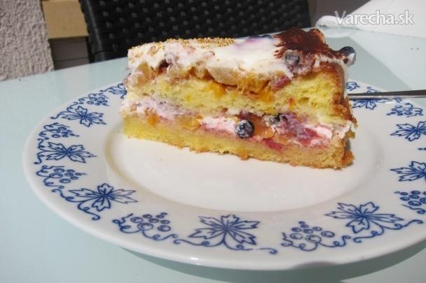 Smotanovo-jogurtová torta - bezlepková