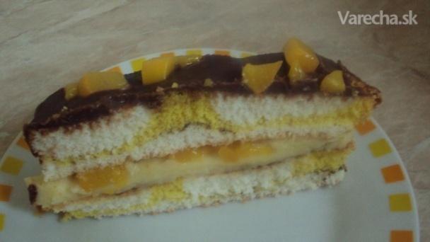 Broskyňový koláč (fotorecept)