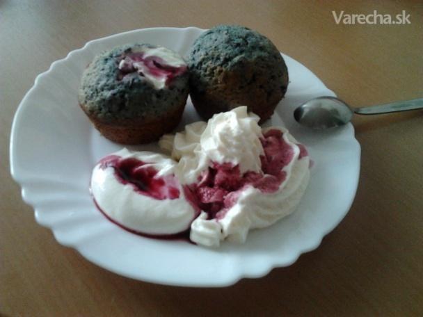 Čučoriedkové muffiny s tvarohom