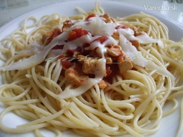 Špagety s kuracím mäsom