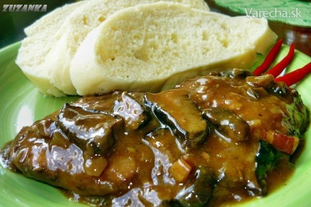 Bravčové karé na hubách (fotorecept)
