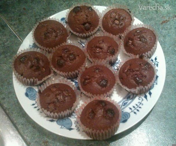 čokoládové muffiny hrnčekové