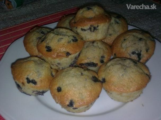 Čučoriedkové muffiny - zdravé