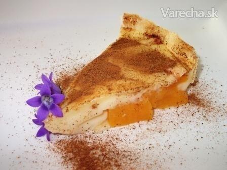 Rýchly broskyňový koláč (fotorecept)
