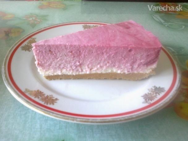 Malinová tvarohová zvírená torta (fotorecept)