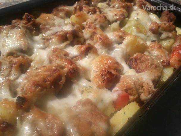 Dusené bravčové zapečené na zeleninových zemiakoch (fotorecept)