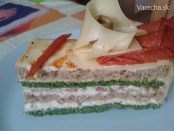 Slaná torta špenátovo-syrová