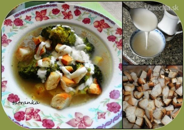 Jednoduchá brokolicová polievka (fotorecept)