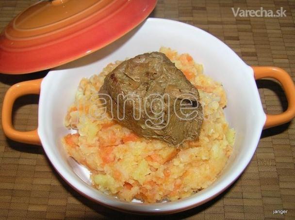 Holandský  hutspot, mrkva-zemiaky-cibuľa (fotorecept)
