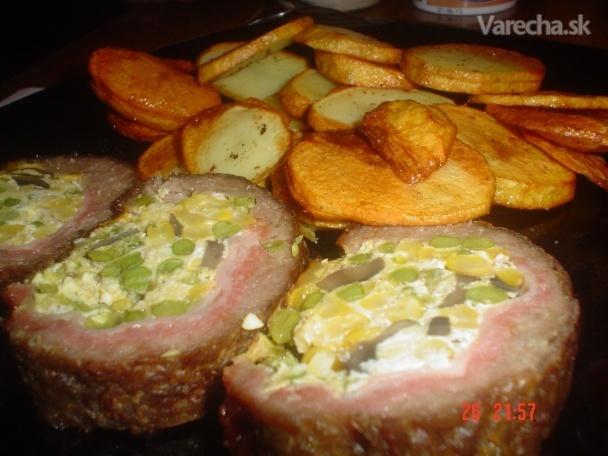 Mäsová roláda so zemiakovými lupienkami