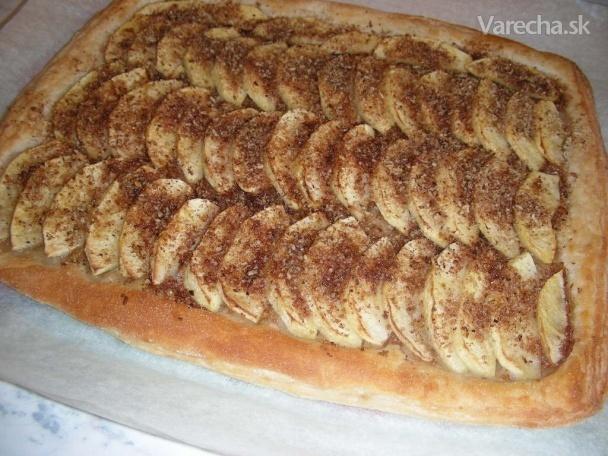 Rýchly jablkový koláč s obrubou (fotorecept)