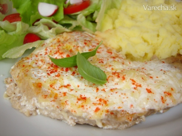 Bravčové mäso so syrom a smotanou (fotorecept)