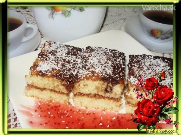 Kokosový hrnčekový koláč (fotorecept)