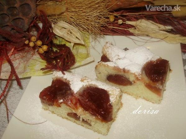 Ovocný lyžicový koláč