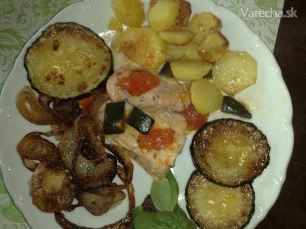 Kuracie rezne s cukinou a paradajkami (fotorecept)