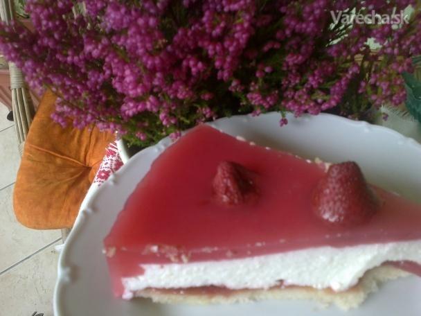 tvarohovo želatínový koláč