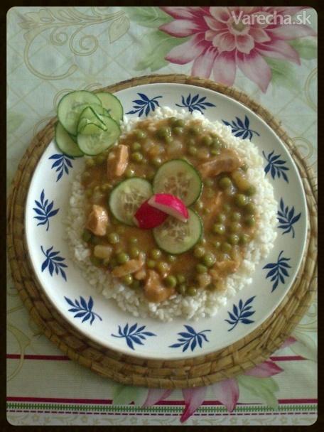 Bravčové mäso na hrášku s ryžou