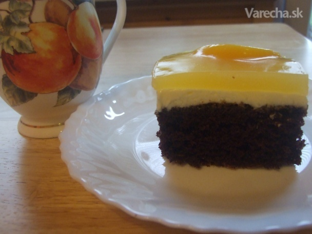 Tvarohovo-ovocný koláč so zlatoklasovou polevou  (fotorecept)