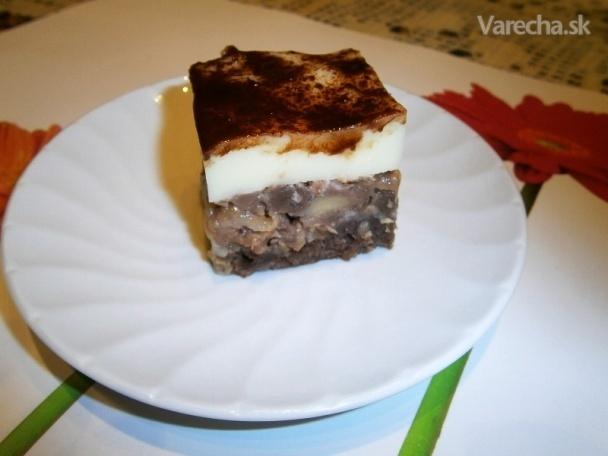 Obrátený jablkový koláč s pudingom (fotorecept)