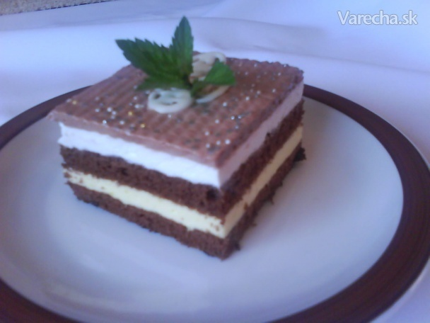 Kakaovo - šľahačkové rezy. (fotorecept)
