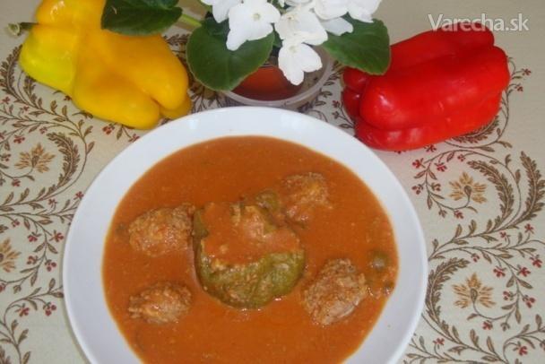 Plnená paprika s mäsovými džadkami (fotorecept)