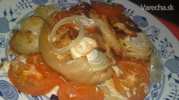 Srbská plnená pečená paprika (fotorecept)