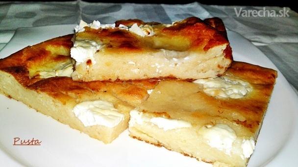 Prósza-slaný zemiakový koláč s kyslou smotanou (fotorecept)