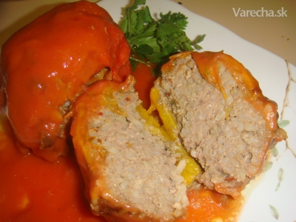 Plnené papriky (fotorecept)