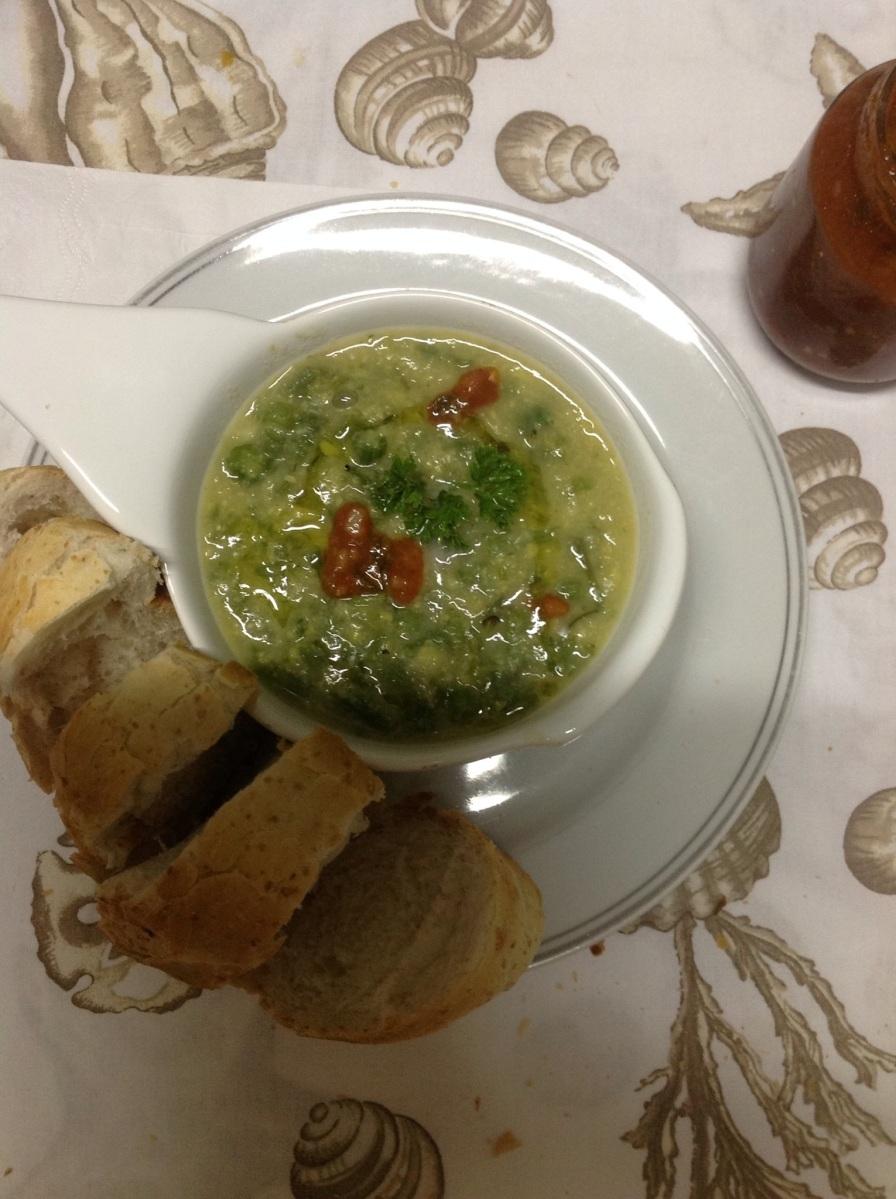 sopa de milho verde com cambuquira