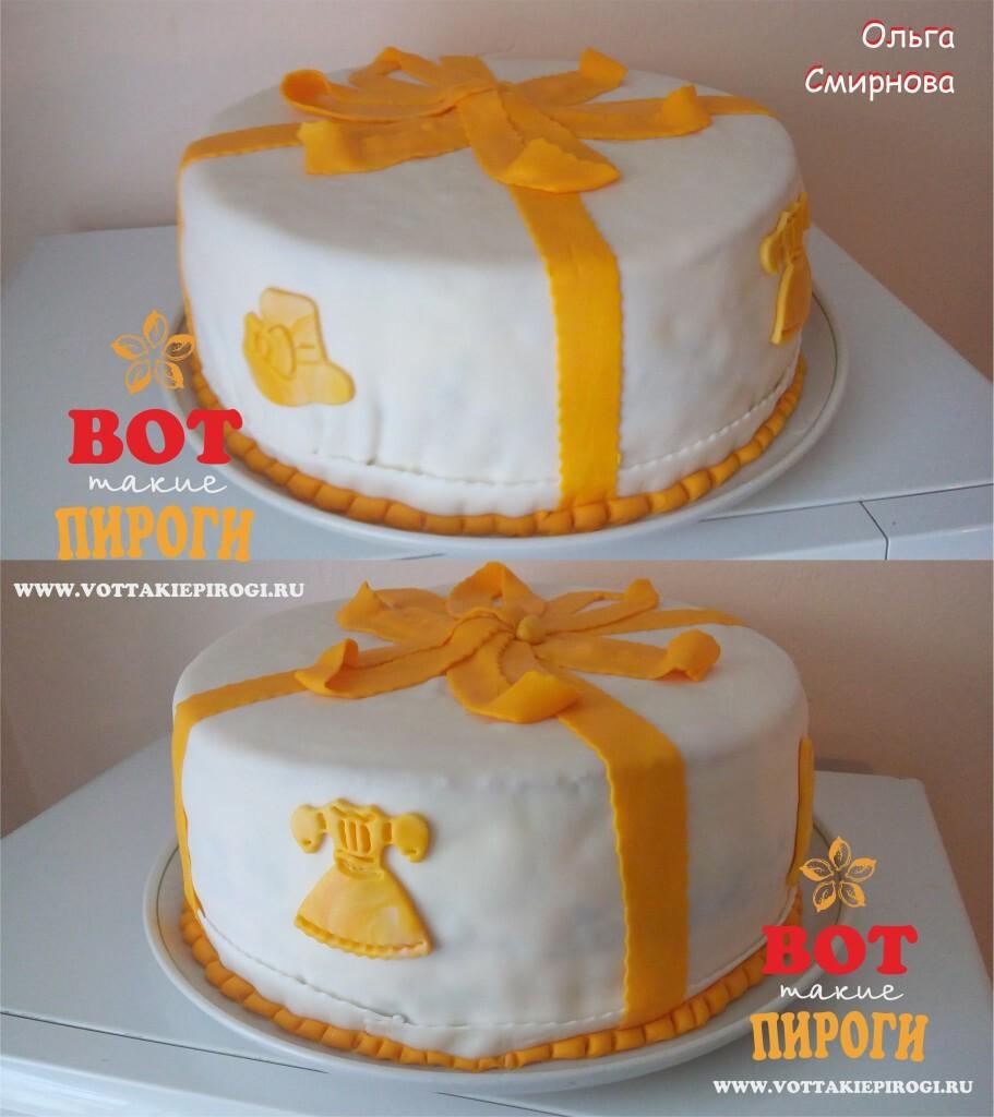 Торт с мастикой своими руками
