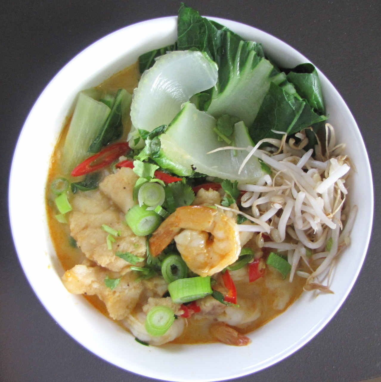 Seafood Laksa – A delicious low calorie meal