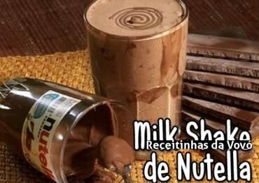 Milke Shake de Nutella Caseiro