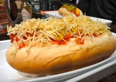 de molho para cachorro quente com ketchup mostarda e maionese