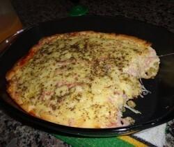 de omelete assado com presunto e mussarela