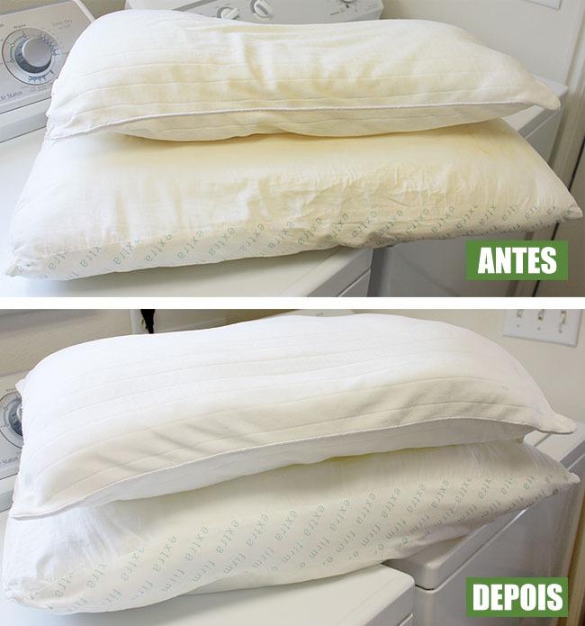 Como tirar manchas do travesseiro