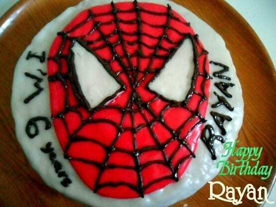 gateau Spiderman, le gateau d'anniversaire de rayan