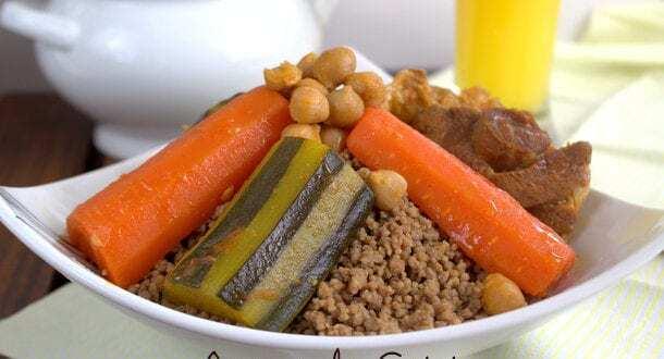Couscous aux glands: couscous bel baloute