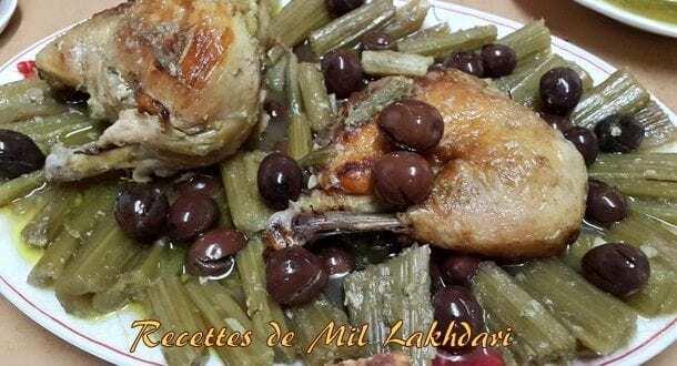 tajine de cardons aux olives