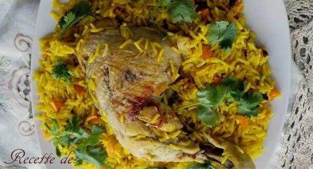Riz basmati au poulet et raisins secs