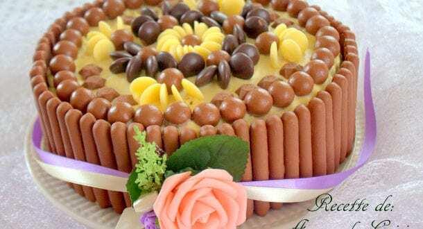 gateau d'anniversaire facile aux bonbons chocolat