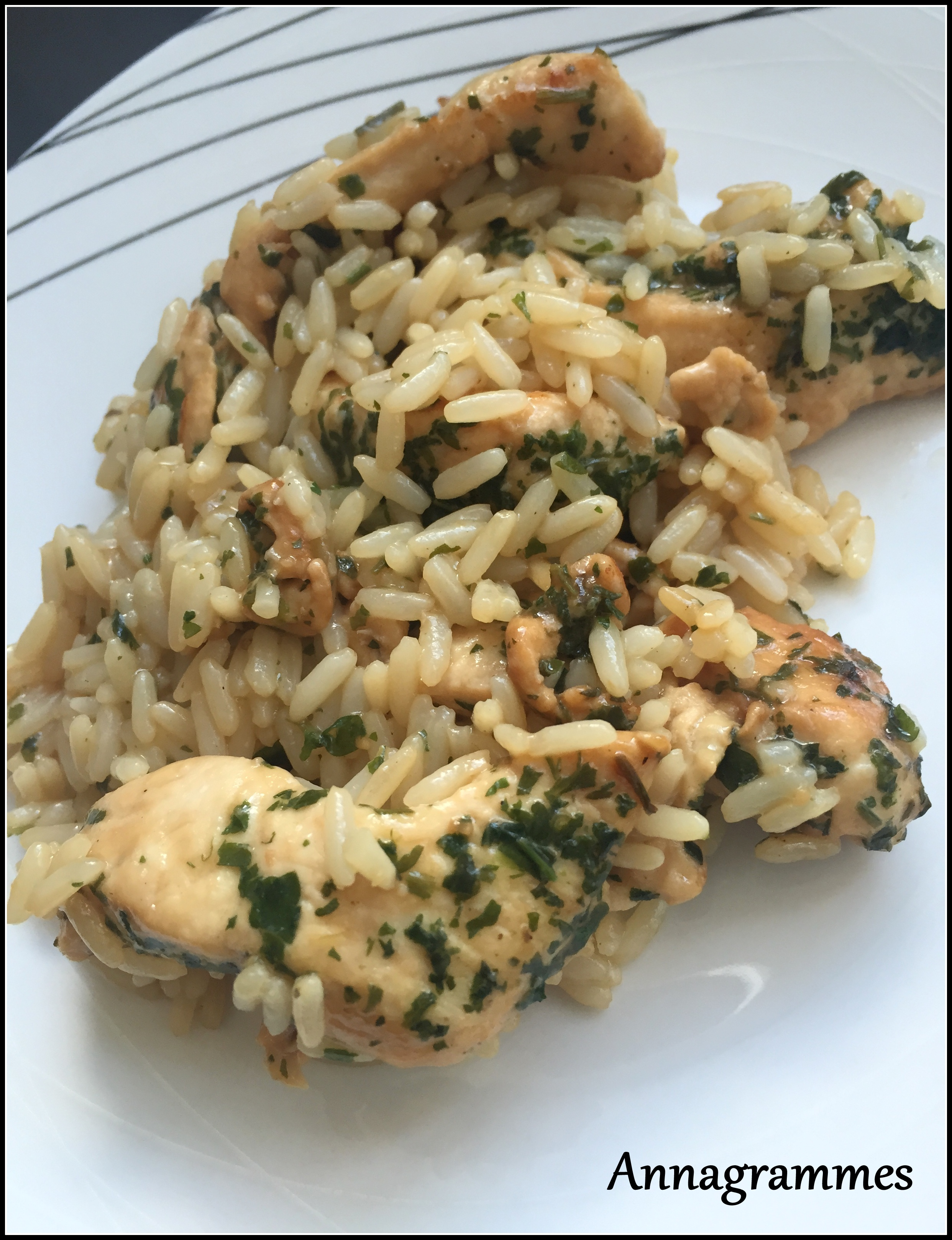 Poulet et riz à la sauce soja