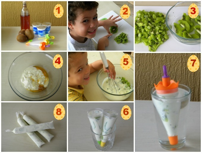 Picolé de Iogurte com Frutas
