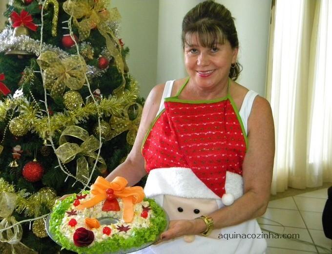 decoraçao saladas natalinas